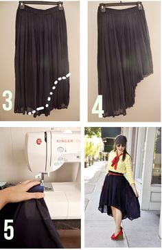 How to D.I.Y High Low Skirt