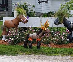 How to Make Horses From Clay Pots by frenchcountry74