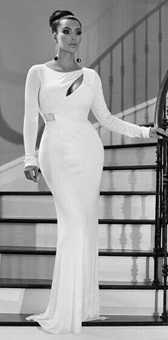 Kim Kardashian white gown