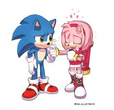 Sonic and Amy Sonic The Hedgehog, Hedgehog Movie, Hedgehog Art, Shadow The Hedgehog, Sonic The Movie, Sonic Y Amy, Sonamy Comic, Sonic Birthday, Comics