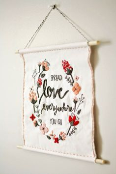 Today I have the funnest craft for you! I have been wanting a little Valentine's decoration for my house, and this hand-embroidered wall hanging turned out perfectly. Now, before we get into this, you should know that I have never embroidered anything in my life. So you don't need any expertise to do something like …