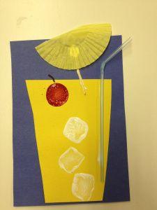 summer craft- lemonade scented paint.
