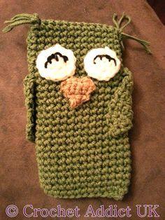 Olivia the Owl Crocheted Phone Cozy