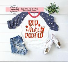 Red White and Boozed Fourth of July Fourth Of July Shirts, 4th Of July, Vinyl Shirts, Jeep Shirts, Diy Shirt, Personalized T Shirts, Custom T, Red White Blue, Shirt Designs