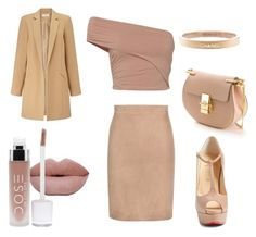 """""""All play at work"""" by angelagmusic ❤ liked on Polyvore featuring Tom Ford, Fuji, Christian Louboutin, Miss Selfridge, Chloé and Chanel"""
