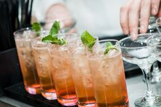 Cocktails: Glamaretto ( amaretto; triple sec; pineapple juice; fresh lemon).