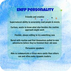 ENFP Personality Type Traits