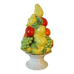 Fruit Centerpieces, Green Grapes, Modern Traditional, Topiary, Decorative Objects, Vintage Ceramic, Sculpture Art, Color Pop, Picnic