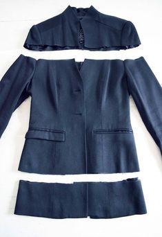 Como transformar una chaqueta en una blusa Off Shoulder4