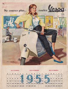 Vespa models - My Ideas & Suggestions Scooter Moto, Vespa Ape, Piaggio Vespa, Vespa Lambretta, Vespa Scooters, Vespa Vintage, Vintage Ads, Retro Ads, Vespa Girl