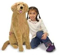 Melissa & Doug Golden Retriever Giant Dog Stuffed Animal (there was a whole display of M dogs in the store, Sophia was afraid to pet this one from the cart) Giant Stuffed Animals, Giant Dogs, Pet Vet, Pet Dogs, Giant Plush, Dogs Golden Retriever, Retriever Dog, Golden Retrievers, Melissa & Doug