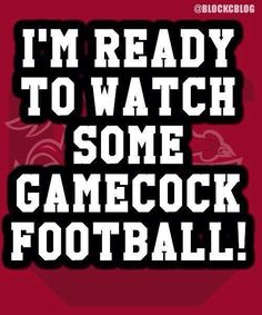 ready for some football! Gamecocks. #universityofsouthcarolina #sec #collegefootball
