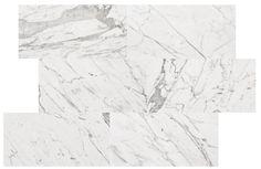 Variationsbild M Statuario Honed  Inspirerad av den italienska marmorn Statuario, med granitkeramikens alla praktiska fördelar och en yta som liknar en slipad marmor.