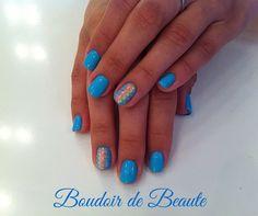 Blue passion! #nailart #nails #nailswag #nailsalon #kalamaria #skg #thessaloniki #beautysalon #beauty #naildesign #nailpolish #boudoirdebeaute #boudoir_de_beaute #manicure #nails_greece #nailsoftheday #nailporn #nailaddict #tribal #shellac