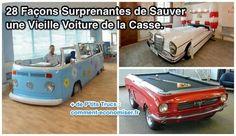 Avec un peu d'ingéniosité et de créativité, les vieilles carcasses de voiture peuvent se transformer en objets incroyables !  Découvrez l'astuce ici : http://www.comment-economiser.fr/28-facons-de-sauver-vieille-voiture-de-la-casse.html?utm_content=buffer56c76&utm_medium=social&utm_source=pinterest.com&utm_campaign=buffer