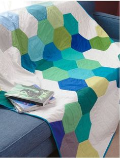 hexagon quilt.