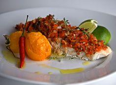 szczypta smaQ: Aromatyczna ryba na ostro - czarniak