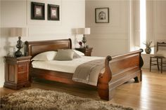 Toulouse Mahogany Sleigh Bed