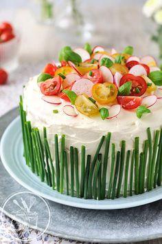 Sandwich Cake (concombre, saumon fumé, fromage à tartiner, tomates cerise)