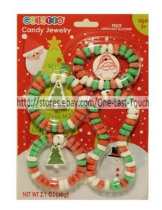 GALERIE-4pc-Candy-Jewelry-CHRISTMAS-Bracelets-Necklace-FRUIT-FLAVORED-Exp-5-18