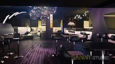 Návrh a redizajn diskoklubu v Knokke, Belgicko.
