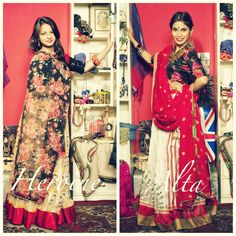 Heroine or Alta? What's more your style? There is nothing more I enjoy then designing Lengha sets. All my skirts are made from over 6 meters of cloth which have a gorgeous fall. I love mixing different prints and textures and lengha sets are the best mediums to do that. For purchases email me at ayushk@hotmail.co.uk or what's app me on 00447840384707