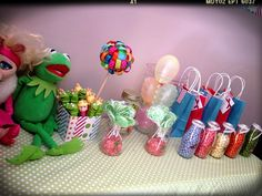 sweets and gift bag station