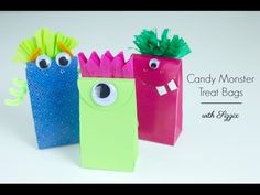 DIY Candy Monster Treat Bags | Sizzix DIY Parties & EventsSizzix Blog | #halloween #party #monsters