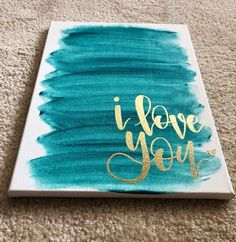 Excited to share this item from my #etsy shop: I love you, i love you canvas, embossed canvas, handlettered canvas, modern calligraphy, nursery decor, freehand calligraphy Easy Canvas Art, Small Canvas Art, Easy Canvas Painting, Love Painting, Diy Canvas, Canvas Wall Art, Nursery Canvas Art, Crafts With Canvas, Canvas Ideas Kids