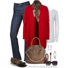 """""""Jeans and Tee"""" by fiftynotfrumpy on Polyvore"""
