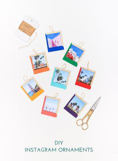 Make these colorful Instagram ornaments for your tree in less than one hour!