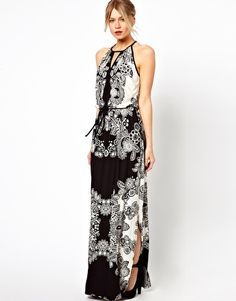 Oasis Lace Print Maxi Dress