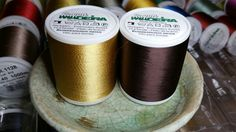 Madeira Rayon Embroidery Thread Lot of 2 each Col. 1070 and Col. 1059 New Machine Embroidery Thread, Tableware, Wood, Dinnerware, Dishes