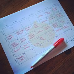 Monthly meal planning. This woman only spends about 350 dollars per month to feed a family of 6! She has some great ideas and her post was incredibly detailed. Great info to have on hand!