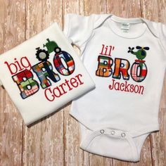 Hey, I found this really awesome Etsy listing at https://www.etsy.com/listing/182556846/big-brother-little-brother-sibling-set