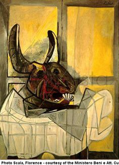 Pablo Picasso (1942) - Tête de taureau sur une table - ✯ http://www.pinterest.com/PinFantasy/arte-~-pint-pablo-picasso/