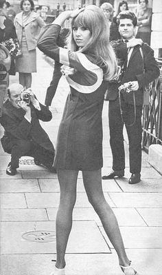 Pattie Boyd modelling a minidress by Mary Quant in the 1960s. Jealous!