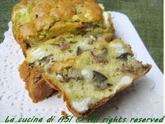 Una nuova torta salata un cake con melanzane feta e pesto con basilico..profumato saporito insomma..ottimo! Ricetta torte salate La cucina di ASI
