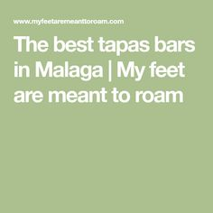 The best tapas bars in Malaga   My feet are meant to roam