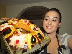 Rosca de Reyes rellena de queso philadelphia y nuez - YouTube