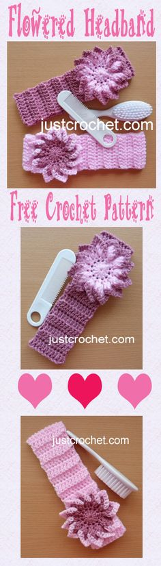 Free crochet pattern for baby headband.