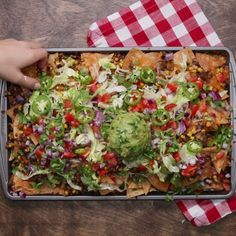 Loaded Vegetarian Nachos