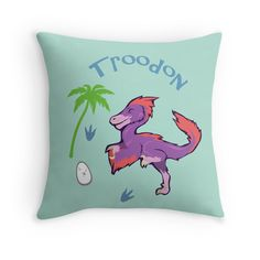 Cute Troodon Dinosaur Pillow