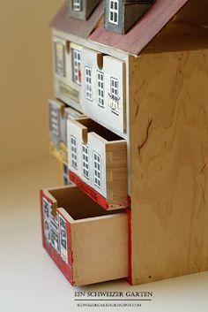 Ikea - Hack Aus Moppe Schubladen - Box > Puppenhaus Schubladen - Box DIY - Moppe before-after - Ein Schweizer Garten