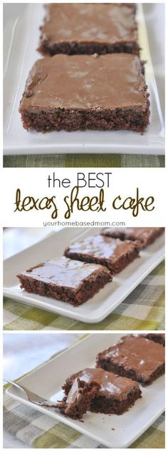 The Best Texas Sheet Cake Ever!! Yummy Chocolate Texas Sheet Cake Recipe via Your Homebased Mom - The Best EASY Sheet Cakes Recipes - Simple and Quick Party Crowds Desserts for Holidays, Special Occasions and Family Celebrations
