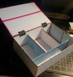 #diy #box #mylittlebox #makeupbox #maskingtape #carton #rangement #tiroirs #ruban #multicolor #creation #customisation