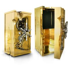 "Millionaire Safe by Boca do Lobo | Luxury Safes, private collection, Influenced by the California Gold Rush and the ""Forty-niner's"". For More News about luxury: www.bocadolobo.com/en/news-and-events"