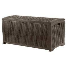 Suncast Resin Wicker Deck Box (99 Gallon) : Target