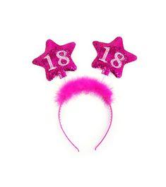 Rajf s brojem 18 Brokat, 18th, Pink, Happy Birthday, Glitter, Stars, Gifts, Decor, Grown Up Parties