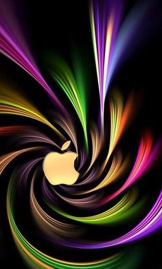 Art Fractal, Fractal Design, Colorful Wallpaper, Wallpaper Backgrounds, Mobile Wallpaper, Rainbow Wallpaper, Iphone Wallpapers, World Of Color, Optical Illusions